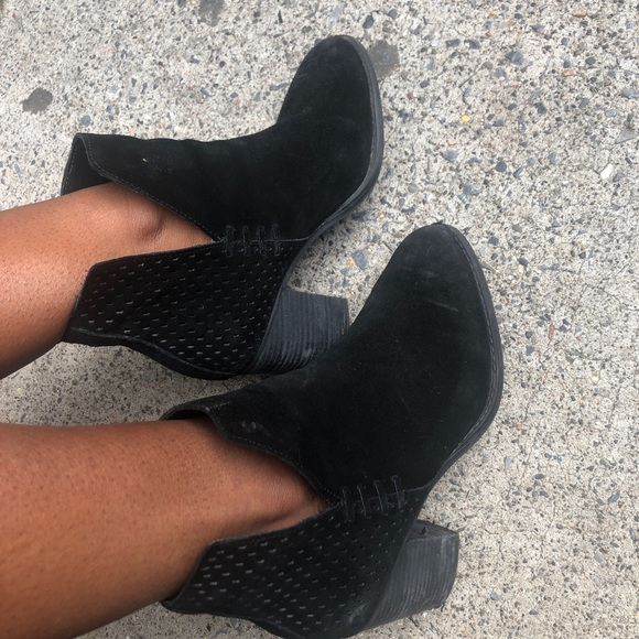 Shoes - Suede Black Booties